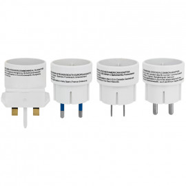 Reisestecker Adapter Set, 4-teilig, weiß