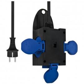 Kunststoff Mobil Hänge- verteiler, blau/schwarz IP44 3 x 1,5²mm PCE