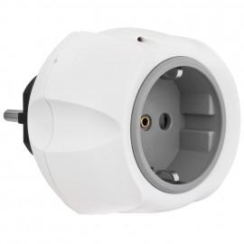 Überspannungsschutz Adapter, mit Kontroll Leuchte, weiß Anforderungsklasse D