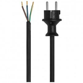Gummi Anschlussleitung, H07RN-F, 3 x 1²mm, 3 m, schwarz für Elektrowerkzeuge