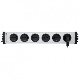 Steckdosenleiste, 6 fach, 3 x 1,5²mm, 1,5 m, mit Kinderschutz grau / schwarz