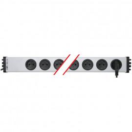 Steckdosenleiste 8 fach, 3 x 1,5²mm, 1,5 m, grau/schwarz, mit Schalter mit Kinderschutz