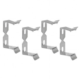 4 Stück Halteklammer Set, Metall, für Tischsteckdosen ab Breite 45mm