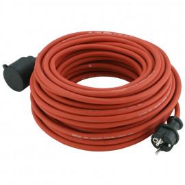 Schutzkontakt Gummi Verlängerung, H05 RR-F 3G x 1,5²mm, 25 m, rot