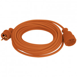 Schutzkontakt Verlängerung, H05 VV-F 3G x 1,5²mm, orange, Länge 10 Meter