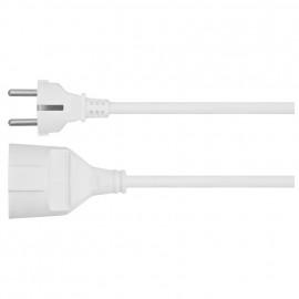 Schutzkontakt Verlängerung, H05 VV-F 3G x 1,5²mm, weiß Länge 2 Meter