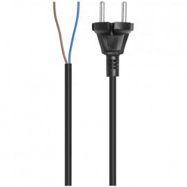 Staubsauger Anschlusszuleitung, H03 VV-F, 2 x 0,75²mm, 7,5 m, schwarz aufrollfähig