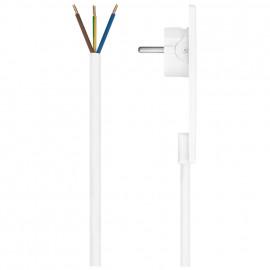 Anschlusszuleitung, EVOLINE, H05 VV-F, 3 x 1,5²mm, 1,5 m, weiß, superflacher Winkelstecker
