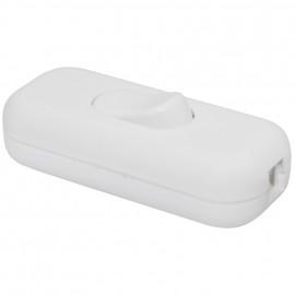 Schnur Zwischenschalter, 1 polig, mit N Klemme, weiß, 2 x 0,75 mm²