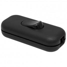 Schnur Zwischenschalter, 1 polig, mit P/N Klemme, schwarz 3 x 0,75 mm²