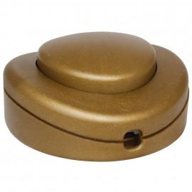 Schnur Fußschalter, 250V / 2(1) A, gold für 2/3 adriges Flach und Rundkabel