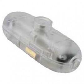 Schnur Zwischenschalter, 2(1)A, transparent für Rundkabel