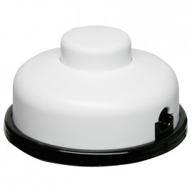 Schnur Fußschalter, 6(2)A, weiß für Halogen und LED Leuchten