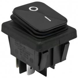 Einbau Wippschalter, 250V / 16 (8)A, 2 pol Temoeratur bis 120°, IP65