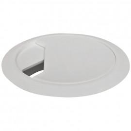 Kabeldurchführung für Tischplatten, weiß Bohrung-Ø 59 mm