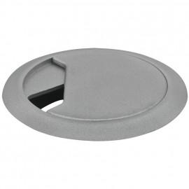 Kabeldurchführung für Tischplatten, silber Bohrung-Ø 59 mm