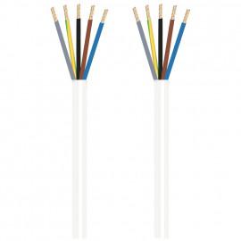Herdanschlussleitung, 5 x 1,5²mm H05 VV-F, 1,5 m, weiß