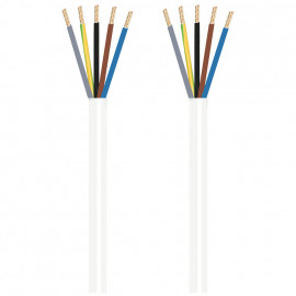 Herdanschlussleitung, 5 x 2,5²mm H05 VV-F, 3 m, weiß