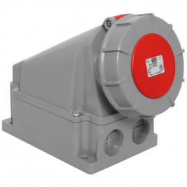 CEE Wandsteckdose, 5-polig, 400V Ampere 63A, IP66 / 67, Prüfung ÖVE - PCE