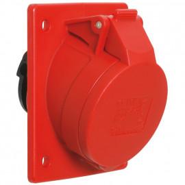 CEE Einbausteckdose, schräg, 5-polig, 400V, IP44 Ampere 16A - PCE