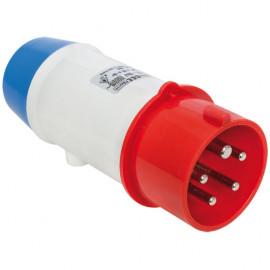 CEE Adapterstecker auf Schutzkontakt, 3-polig, 16A/230V, IP44