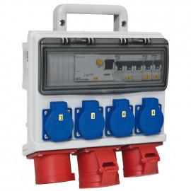Mobil CEE Steckdosen verteilung, HORN Einspeisung über 32A CEE Gerätestecker - PCE