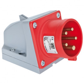 CEE Wandgerätestecker, 5-polig, 400V, IP44 Ampere 16A - PCE