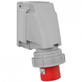 CEE Wandgerätestecker, 5-polig, 400V Ampere 63A, IP44, Prüfung OVE - PCE