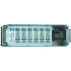 Regelleiste zur Verbindung von max. 6 Thermostaten mit bis zu 24 Stellantrieben
