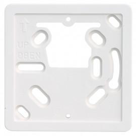 Adapterplatte für Raumthermostate zur Montage auf Unterputz Dosen, reinweiß