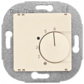 Raumthermostat, Kombi, Wechsler, 10A (4A), +5° bis +30°, Zentralplatte 50 x 50 mm weiß