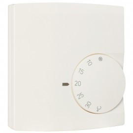 Raumthermostat Aufputz, 230V / 10A, +5 bis +30°, Öffner, reinweiß