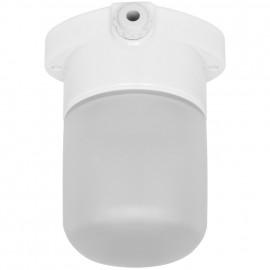 Sauna Deckenleuchte, LISILUX, 1 x E27 / 40W Porzellan mattiertes Glas