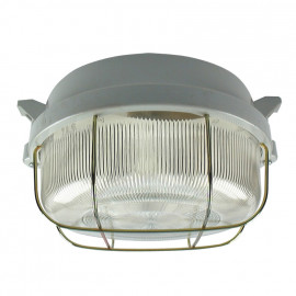 Kellerleuchten Rundleuchte, 1 x E27 / 100W Strukturglas Ø 190 mm