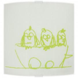Kinderzimmerleuchte, Wandleuchte Vögel , 1 x E27 / 42W Novecento