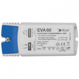 Elektronische Halogentrafos NV Sicherheitstrafo, 230V / 11,5V / 0-60W Ilox