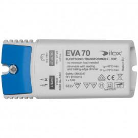 Elektronische Halogentrafos NV Sicherheitstrafo, 230V / 11,5V / 0-70W Ilox