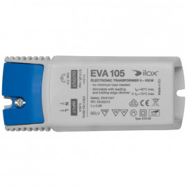 Elektronische Halogentrafos NV Sicherheitstrafo, 230V / 11,5V / 0-105W Ilox