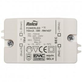 LED Netzteil, 6W / 8V-DC / 700mA Relco
