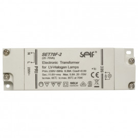 Elektronische Halogentrafos NV Sicherheitstrafo, 230V / 11,8V / 50-150W Self