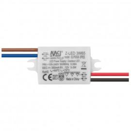 LED Netzteil, 230V / 12V-DC/3W MCJ