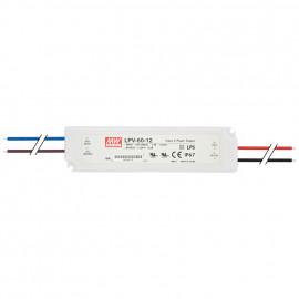 LED Netzteil, 230V / 12V-DC / 60W Mean Well