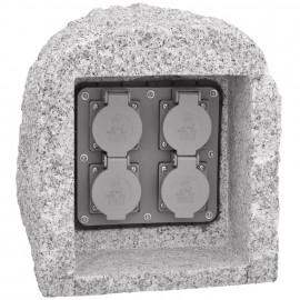 Steckdosenverteiler aus echtem Granit, 10 m Zuleitung H07RN-F 3G x 1,5²mm