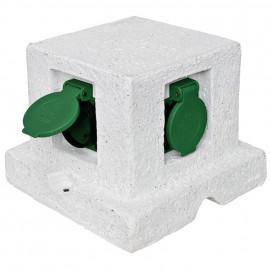Steckdosenverteiler, 4 Steckdosen Länge 180mm, Breite 180mm ohne Zuleitung