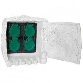 Steckdosenverteiler, 4 Steckdosen IP44 ohne Gummizuleitung