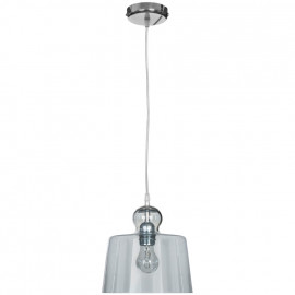 Pendelleuchte, Wohnraumleuchten 1 x E27 / 72W Metall Chrom verspiegeltes klares Glas
