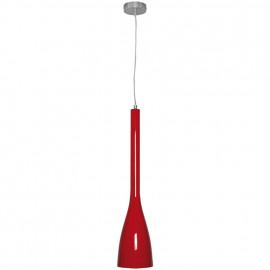 Pendelleuchte, Wohnraumleuchten TUS, 1 x E14 / 60W, rot, Metall