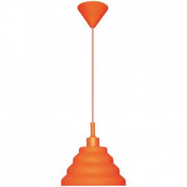 Pendelleuchte, Wohnraumleuchten 1 x E27 / 60W Vollgummi Orange Pendel 1000 mm