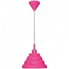 Pendelleuchte, Wohnraumleuchten 1 x E27 / 60W Vollgummi Pink Pendel 1000 mm