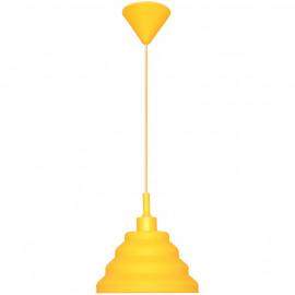 Pendelleuchte, Wohnraumleuchten 1 x E27 / 60W Vollgummi Gelb Pendel 1000 mm